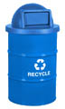 Blue Recycle bin